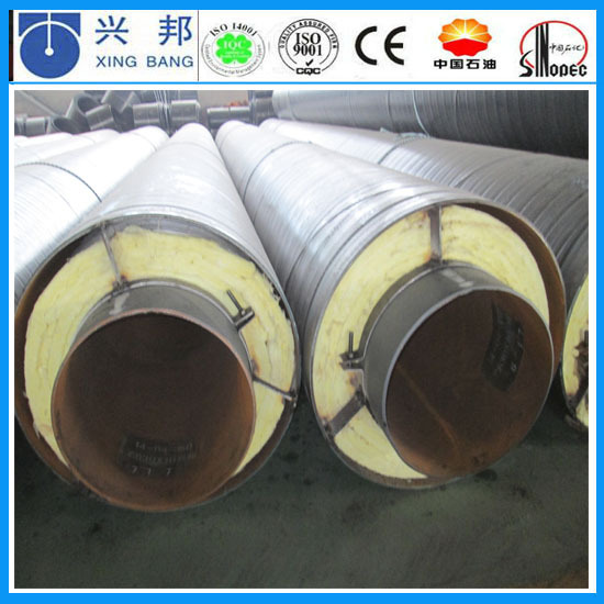 Plastic thermally rockwool cover steel steam pipe for Rockwool pipe insulation prices