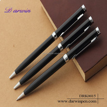 Black business simple metal ball pen twist pen