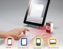Tablet, Smartphone using Bluetooth laser virtual keyboard qwerty with mouse, voice speaker