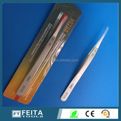 In stock Wholesale ! E-cig accessories Hand tool heat resistant ESD stainless steel ceramic tweezers
