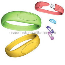 Silicone bracelet usb flash drive wrist band hand band usb flash drive factory selling