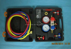 MST-134A air conditioner repair tool R134a refrigerant manifold gauge set with straight type quick coupler connector