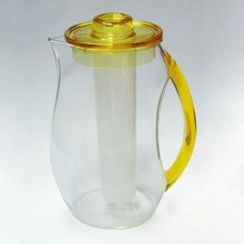 AC Tranparent Yellow Plastic Water Infuser Pitcher