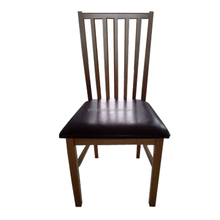 Hot sale cheap home living solid wood leather dining chair
