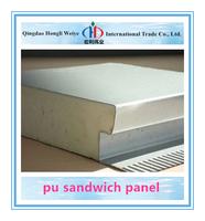 Color Steel 75mm thick pu sandwich panel isopanel