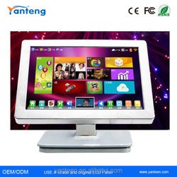 White casing 21.5inch USB touchscreen monitor with IR touch screen