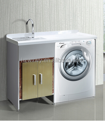 Laundry sink cabinet with washing machine laundry sink for Kitchen cabinet washing machine