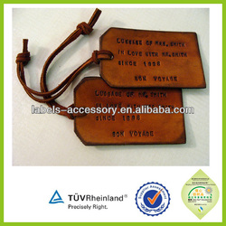 Personalized Fashion custom logo design bag leather label hang tag