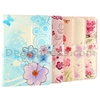 Blue Flowers Pattern Design Flip Magnetic Folio Stand Leather Flowers Case for iPad Air