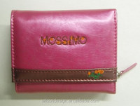 hidden pocket customize logo leather travel wallet