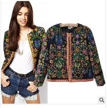 C60026A TOP FASHION AUTOMN NEWEST NATIONAL WIND WOMEN'S CASUAL JACKET