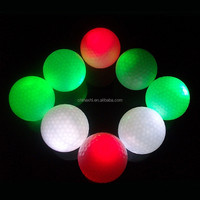 bulk hot large golf ball led flashing golf balls for golf training