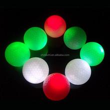 bulk hot large golf ball led flashing golf balls for golf training