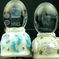 New decorating ideas custom made Constellation Snow Globe Transparent Snow Globe christmas gift box