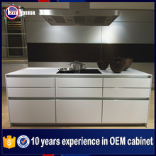 Guangzhou manufacture white high gloss furniture for small kitchen cupboards