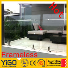 balcony/porch/deck glass railing\deck railing designs
