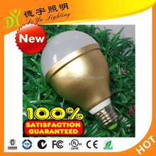 AC220V gold color 12W LED Bulb with Clamps and Connection Cable for Solar System
