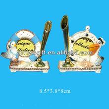 3D sea bird pen holder with frame resin gift decoration