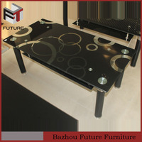 modern design glass top tea table painting pictures