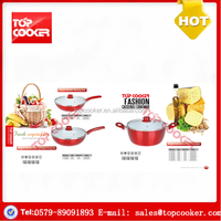 Aluminium forged white ceramic coated fat free cooking cookwares