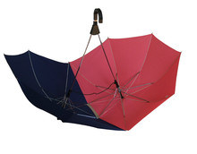 Honsen green straight wooden shaft umbrella wooden handle advertising print