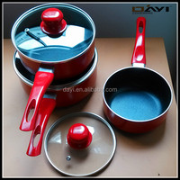 Aluminum Nonstick Marble Sauce Pan Set