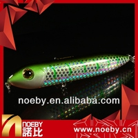 NOEBY 90mm 12.5g top water floating pencil fishing lures plastic shrimp