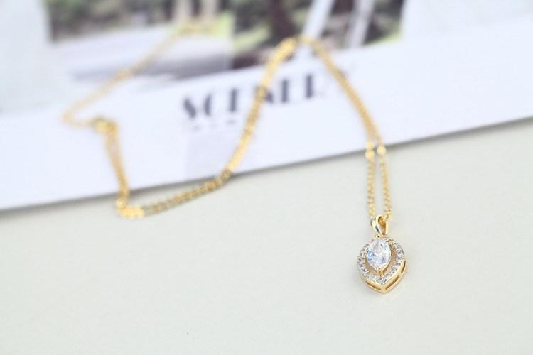 Tungsten Women JewelryGold Necklace Designs In 3 Grams