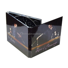 Crystal cover 6panel digipak cd printing cd book with clear tray