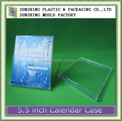 China cheap good quality blank ps crystal dvd calendar case