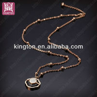 2013 Wonderful Stainless Steel Necklace Vners with Rhinestones