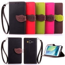 Leaf Style Case Cover Stand for Samsung galaxy A3 wallet Case