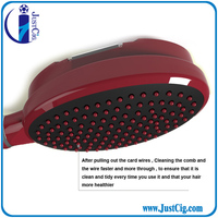 professional rechargeable massage biolaser comb anti hair loss hairbrush plastic hair brush JMS A