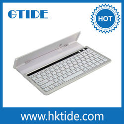 Aluminium Wireless Keyboard for iPad Universal Bluetooth Keyboard for PC Tablet Laptop with Holder