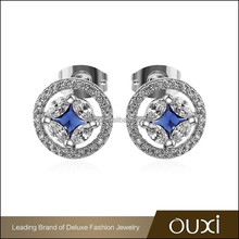 OUXI fashion women stud earring accessories made with AAA zircon