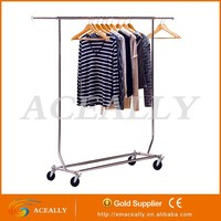 display clothing racking with wheels