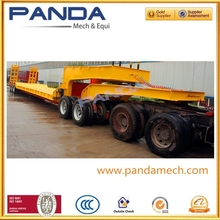 Pandamech 2015 New Dolly Low Bed Trailer,Low Bed Truck Trailer 3 Axle,Low Bed Semi Trailer