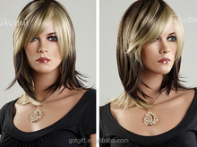 New Design No Shedding Fashion Human Hair Wigs For Short