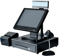 15 Inch Supermarket Cashier Equipment all in one pos terminal android pos terminal