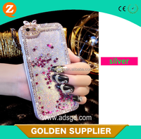 Bling Sparkle Glitter Heart Liquid Quicksand make your own cell phone case