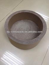 Factory direct sale pet products cat toys furniture scratching post round basin shape scratcher corrugated cat scratcher