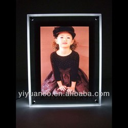 2014 Led illuminated photo frame led light photo frame