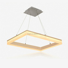 European modern SMD square led pendant hanging lamp chandelier lights for hotel office home