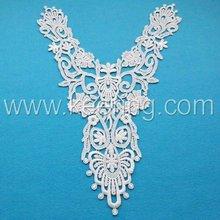 2012 hot sale white cotton lace motif for gament WLS-179