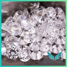Factory wholesale 7.5mm AAA 100 Facets in stock hot sell white imitation zirconia for Jewelry making