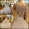 WD-1724 Marvelous crystal beaded my lady wedding dresses white and silver wedding dresses for full figure