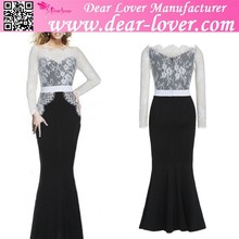 lace long maxi prom cocktail evening formal dress