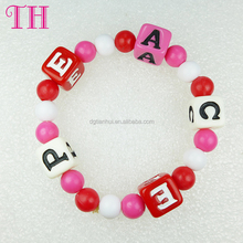 factory cheap price colorful number resin shaped baby bead bracelet , all kinds of bracelet