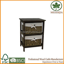bedside furniture wicker drawer 42cm high small wood table