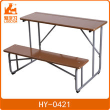 Grade school wooden school table and chair for classrooms